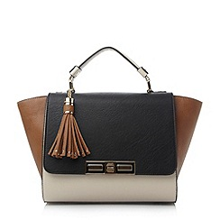 Dune - Black colour block winged handbag