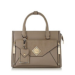 Dune - Grey 'Deevva' removable clutch tote bag