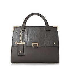 Dune - Grey 'Donovan' structured flap over bag