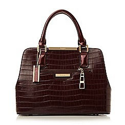 Dune - Dark red 'Domino' multi compartment handbag