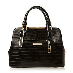 Dune - Black 'Domino' multi compartment handbag