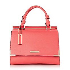 Dune - Pink structured top handle handbag