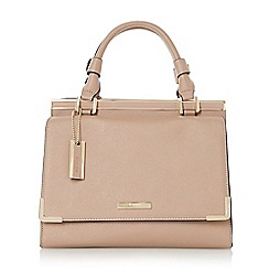 Dune - Neutral structured top handle handbag