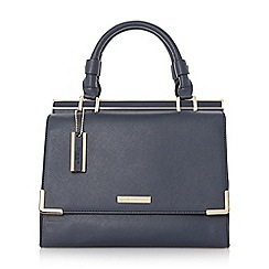 Dune - Blue structured top handle handbag