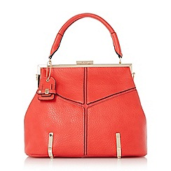 Dune - Red-synthetic 'Donna' structured top handle day bag