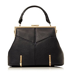 Dune - Blue structured top handle day bag