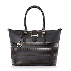 Dune - Black 'Deannah' studded shopper bag