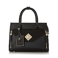 Dune - Black 'Deevva' removable clutch tote bag