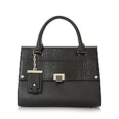 Dune - Black 'Donovan' structured flap over bag