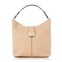 Dune - Neutral turnlock front strap hobo bag