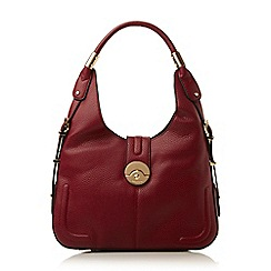 Dune - Dark red 'Divine' push locking hobo bag