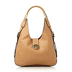 Dune - Camel 'Divine' push locking hobo bag
