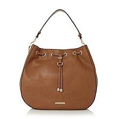 Dune - Tan 'Dollianna' drawstring shoulder bag