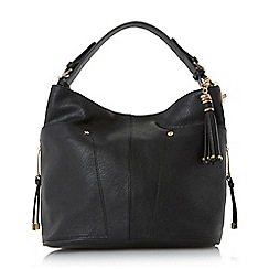 Dune - Black 'Dacey' side pocket detail hobo bag