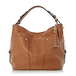 Dune - Tan 'Dacey' side pocket detail hobo bag