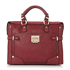 Dune - Berry 'Dellta' hardware detailed top handle bag