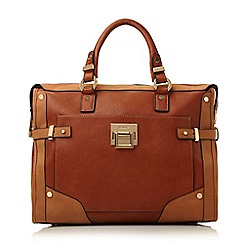 Dune - Tan 'Dellta' hardware detailed top handle bag