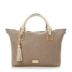 Dune - Grey double top handle tote bag