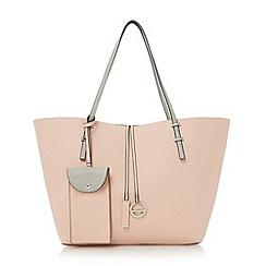 Dune - Pink colour block shopper bag