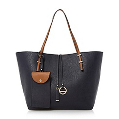 Dune - Blue colour block shopper bag
