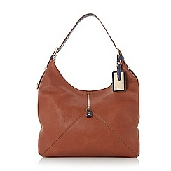 Dune - Plain synthetic colour block shoulder strap hobo bag
