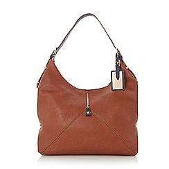 Dune - Plain synthetic colour block shoulder strap hobo bag