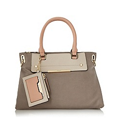 Dune - Grey 'Danniella' slouchy double top handle handbag