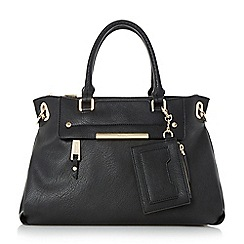 Dune - Black 'Danniella' slouchy double top handle handbag