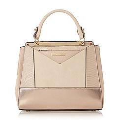 Dune - Light pink 'Drayson' patchwork top handle bag