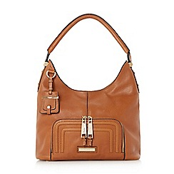 Dune - Tan 'Duke' leather hobo bag