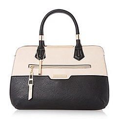 Dune - Black 'Dixxie' front zip detail top handle bag