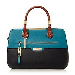 Dune - Mid blue 'Dixxie' front zip detail top handle bag