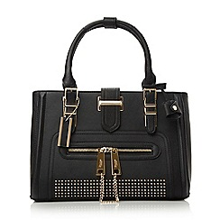 Dune - Black-synthetic 'Dean' studded top handle bag