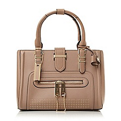 Dune - Taupe-synthetic 'Dean' studded top handle bag