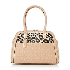 Dune - Camel 'Dee' quilted twin zip tote bag