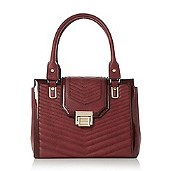Dune - Dark red 'Danica' quilted pattern tote bag