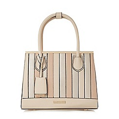 Dune - Cream 'Denver' patchwork top handle handbag litmited edition