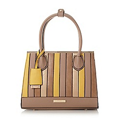 Dune - Taupe 'Denver' patchwork top handle handbag litmited edition