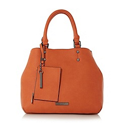 Dune - Orange 'Dibby' purse charm shopper bag