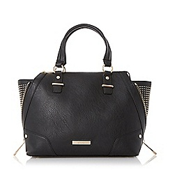 Dune - Black studded wing top handal bag