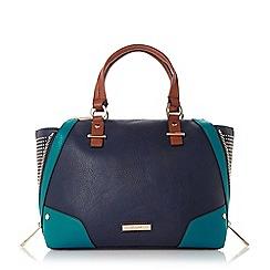 Dune - Blue studded wing top handal bag