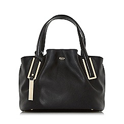 Dune - Black 'Dolliss' slouchy double top handle bag