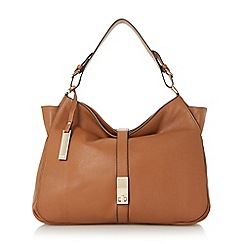 Dune - Tan 'Donnelly' slouch leather shoulder bag