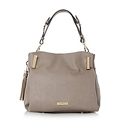 Dune - Grey 'Donnie' tassel detail slouchy handbag