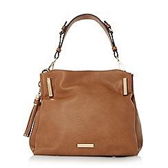 Dune - Tan 'Donnie' tassel detail slouchy handbag
