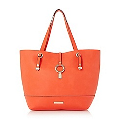 Dune - Red 'Dollies' colour block shopper bag