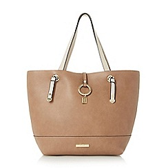 Dune - Taupe 'Dollies' colour block shopper bag