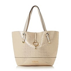Dune - Gold 'Dollies' colour block shopper bag