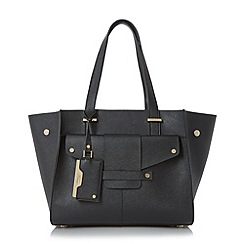 Dune - Black 'Dornan' winged shopper bag with removable pouch