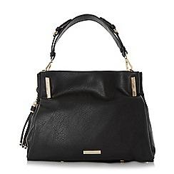Dune - Black 'Donnie' tassel detail slouchy handbag